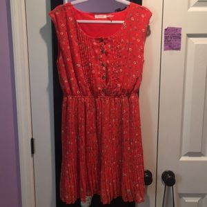 Boutique Red Flower Dress